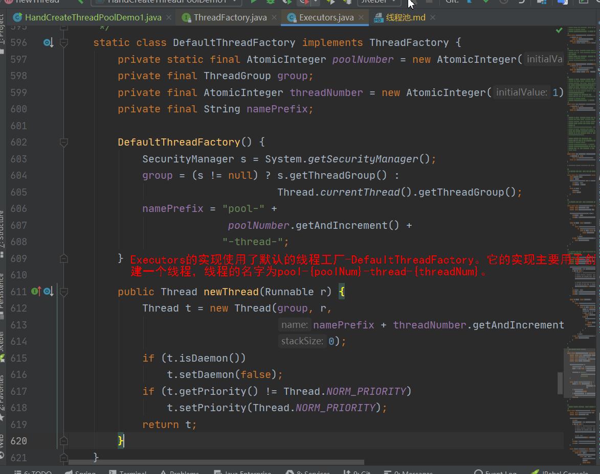 Executors采用了默认的DefaultThreadFactory线程工厂.png